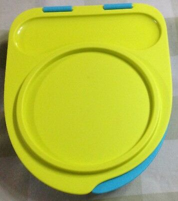 Tupperware  Divided Dish with Attractive Lid including Spoon n Fork.
