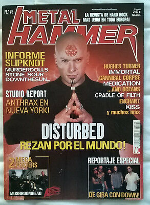 Revista Metal Hammer Nº179 - Disturbed, Slipknot, Stone Sour, Anthrax SIN Poster