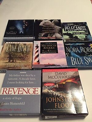 Lot of 8 Audiobooks Books on CD --Mystery, Thriller, Drama--Patterson, Sparks