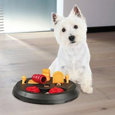 TRIXIE Dog Activity Flip Board, Red/Yellow/Black