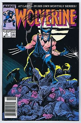 Wolverine #1 Newsstand VF Signed w/COA by Chris Claremont 1988 Copper Age Marvel
