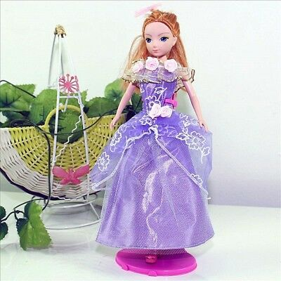 Handmade Party Purple Dress Fashion Clothes For Barbie Doll Outfit Gown Wedding