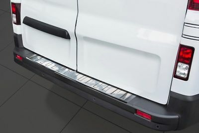 RENAULT TRAFIC 3 Rear Bumper Chrome Cover Protector Scratch Guard S.Steel 2014 >