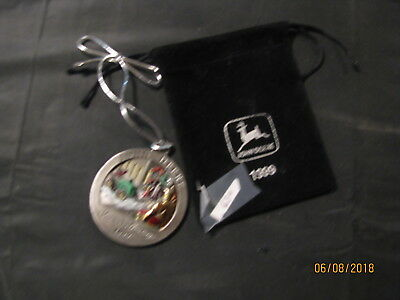 1999 John Deere Pewter Christmas Ornament No 4 in Series