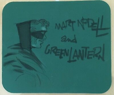 Original Comic Art Golden Age Green Lantern By Creator Mart Nodell On Mouse Pad
