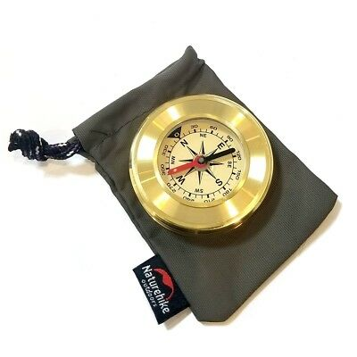 (Gold) - Compass Portable Pocket Gold Waterproof Anti-shock Outdoor Hiking