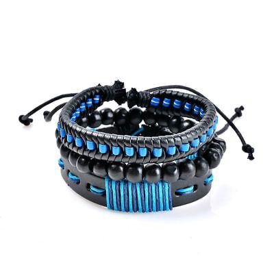 Multilayer Bracelet Men Casual Fashion Braided Leather Bracelets For Women T8R7