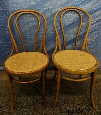 2X Early Thonet Bentwood Chair Vintage