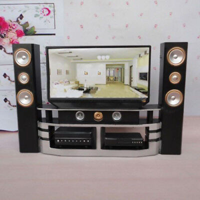 Furniture Living Room Accessories TV Theatre Combo Set For Barbie Dollhouse H J