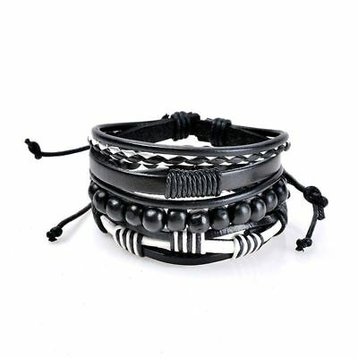 Multilayer Bracelet Men Casual Fashion Braided Leather Bracelets For Women G8C0