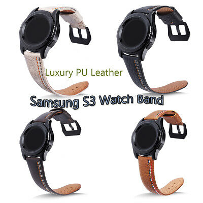 AU PU Leather Wrist Watch Band Strap For Samsung Gear S3 Frontier/Classic 22 MM