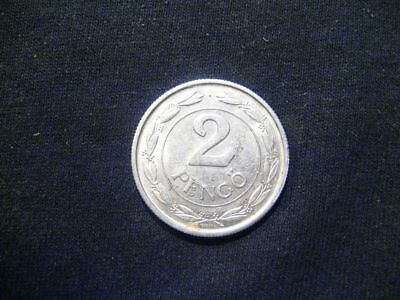 Hungary Kingdom 2 Pengo 1943 Wwii Coin