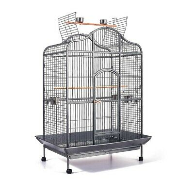 Extra Large Metal Pet Bird Cage Parrot Aviary Canary Budgie Finch with Perch