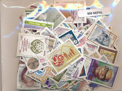 Nepal Package 500 stamps different