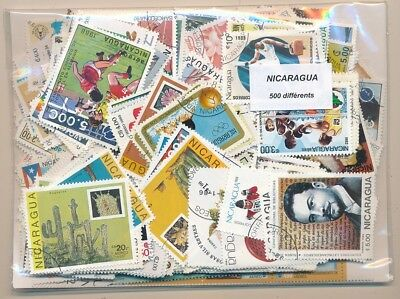 Nicaragua Package 500 stamps different