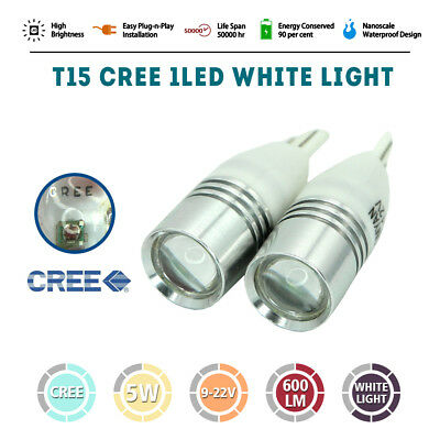 2pcs CREE T15 HIGH Power W5W LED Bulb Wedge Car Side Tail Parker Light Globe AU