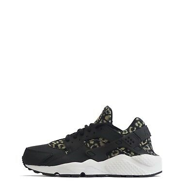 60442b68b26c NIKE AIR HUARACHE Run Print Leopard Women s Trainers Khaki Black ...