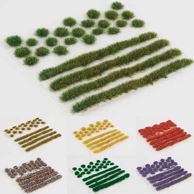 WWS Self-adhesive Static Grass Tufts and Strips Set - Warhammer Terrain Scenery