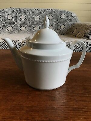 Vintage Furstenberg Porcelain Large White Tea Pot Made in Germany