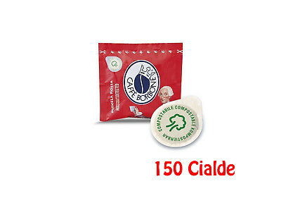150 Cialde In Carta Compostabile Caffè Borbone Ese 44Mm Miscela Rossa Red
