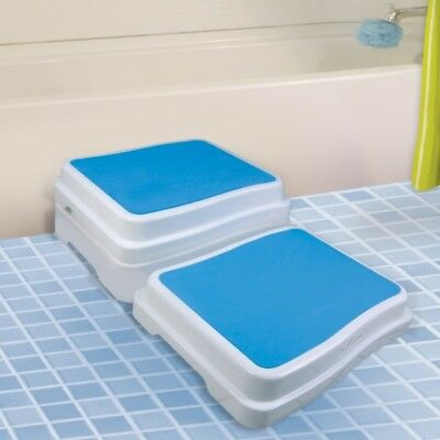 Bath Step Stool Stack Safety Aid Disability Non Slip Shower Grip Support New