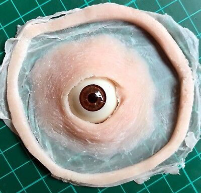 Silicone third eye prosthetic sfx piece