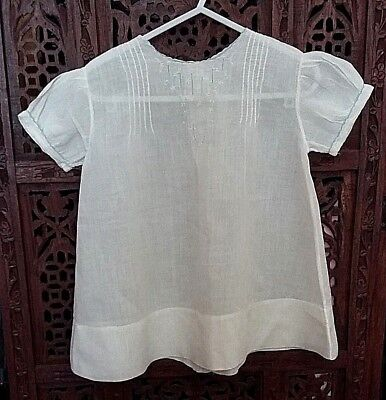 ANTIQUE HAND MADE MUSLIN BABY GOWN. Baptism.  Apron.  Petticoat / blouse
