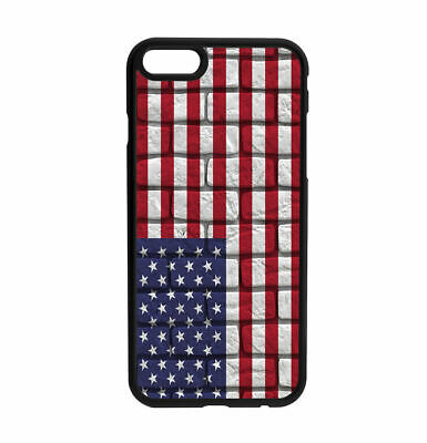 USA Old Wall Flag design Rubber Case for iPhone Samsung  D3