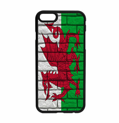 Welsh Wales Old Wall Flag design Rubber Case for iPhone Samsung  D3