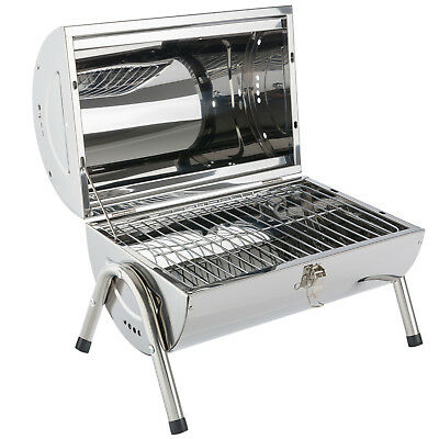 Arebos Holzkohle Grill Tischgrill Klappgrill Camping Picknick Edelstahl