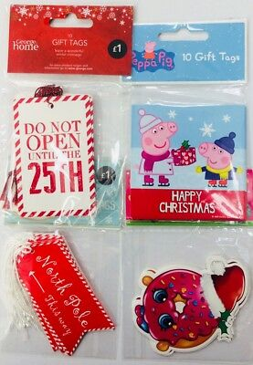 Job Lot Gift Tag packs x 40 Christmas labels multi pack buy variety set