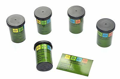 5 x Film Canisters Set, Sticker, Waterproof Log Sheets, Geocaching Hiding Place