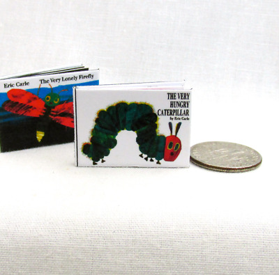 THE VERY HUNGRY CATERPILLAR Illustrated Miniature 1:12 Scale Readable Book