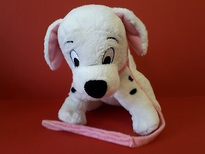 101 Dalmatians Puppy Dog Soft Toy with Plush Pink Collar & Lead The Disney Store