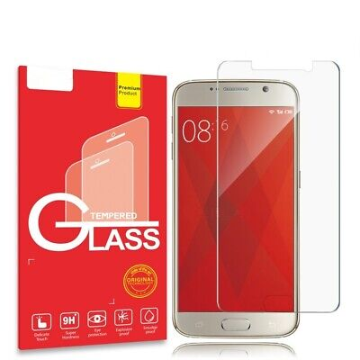 2X Samsung Galaxy S5 S6 S7 Tempered Glass Screen Protector Film Guard