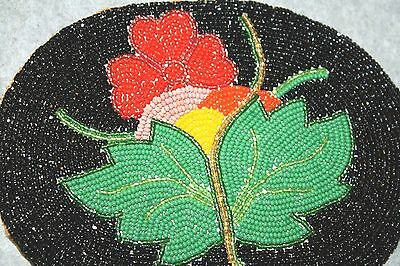 Native American Beaded Patch Flower Pattern - Hand Made!