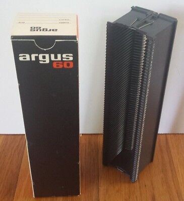 Vintage Argus 60 Slide Magazine Tray Projectors Spill Proof in Box 60 Capacity