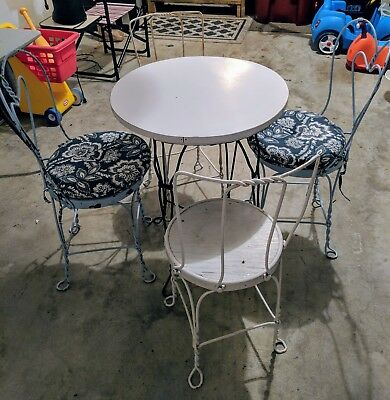 Ice cream table and chairs antique