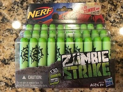 Pack Of 30 Official Nerf Zombie Strike & N-Strike Blaster Deco Darts Refill Toy