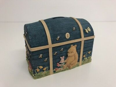 """Classic Winnie the Pooh """"Pooh and Piglet Chest Money Bank"""" Excellent Condition"""