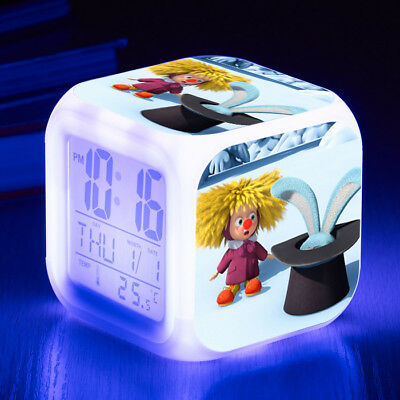 Masha and The Bear 7 Color LED Night Light Alarm Clock Figures Watch Kid Toy