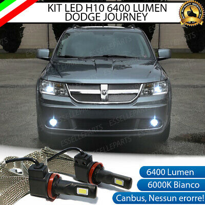 Kit Full Led Dodge Journey Lampade H10 Fendinebbia Canbus 6400L 6000K No Error