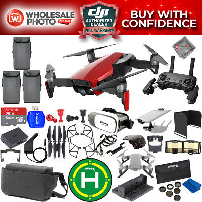 DJI Mavic Air Fly More Combo (Flame Red) SUPREME All You Need Accessory Bundle