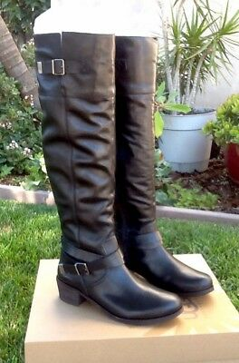 d3ad9242587 NEW WOMENS UGG® BLACK BESS LEATHER BOOTS KNEE-HIGH - $181.95 | PicClick