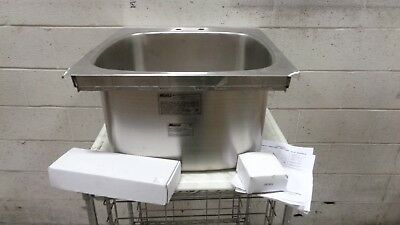 Eagle Group SR22-22-13.5-1 One Comp. SS Drop-In Sink with Deck Mount Faucet