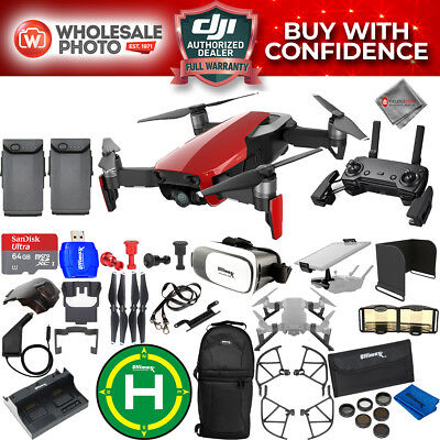 DJI Mavic Air (Flame Red) 2 Battery EXTREME All You Need Accessory BUNDLE New