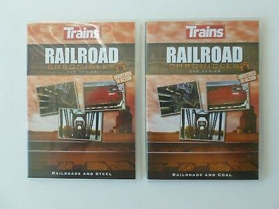 2 Trains Magazine Railroad Chronicles INDUSTRIES IN ACTION DVD Series FREE SHIP