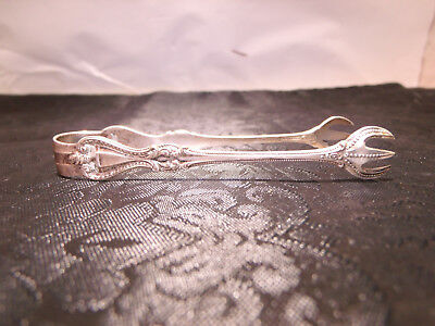 Antique Sterling Silver Towle Sugar Cube  Tongs Old Colonial Patent 1895