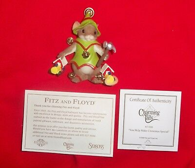 Charming Tails You Help Make Christmas Special In Box w/ COA & Paperwork 87/188