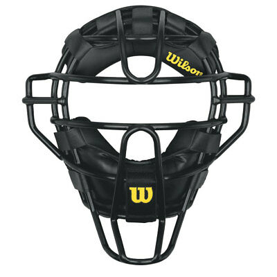 Wilson Adult Steel Umpire Mask w/Synthetic Pads - Black